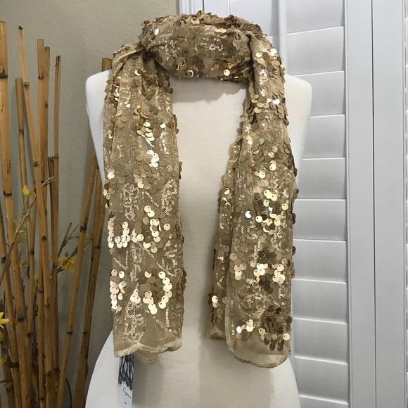 Cejon Accessories - Cejon Women's Wrap Scarf Gold New